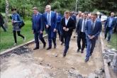 Губернатор Андрей Травников проконтролировал ход реконструкции территории Монумента Славы