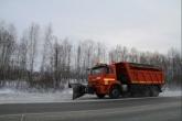 Плуги и щетки используются в регионе для уборки областных автодорог от снега