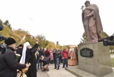 Губернатор Андрей Травников принял участие в торжественном открытии памятника Князю Владимиру – Крестителю Руси
