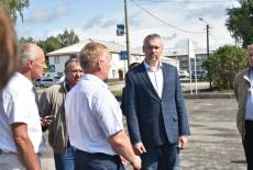 Губернатор высоко оценил ход реализации нацпроекта «Жильё и городская среда» в Усть-Таркском районе