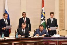 Губернатор Андрей Травников подписал соглашения о сотрудничестве с Республикой Тыва и Кемеровской областью
