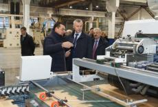 Губернатор оценил ход реализации перспективного инвестиционного проекта запуска завода по производству бумаги и гофроупаковки