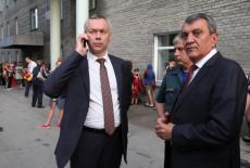 Глава Новосибирской области Андрей Травников проконтролировал ход работ по ликвидации последствий пожара в Областной клинической больнице
