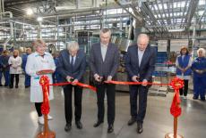 Губернатор Андрей Травников открыл новую производственную линию ОАО «Сибиар»