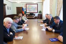 Андрей Травников провёл рабочую встречу с координатором федерального проекта «Детский спорт» Ириной Родниной