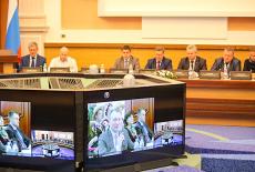 Видеомост связал Новосибирск и Минск — города-побратимы. Фото: © Сибирский репортёр