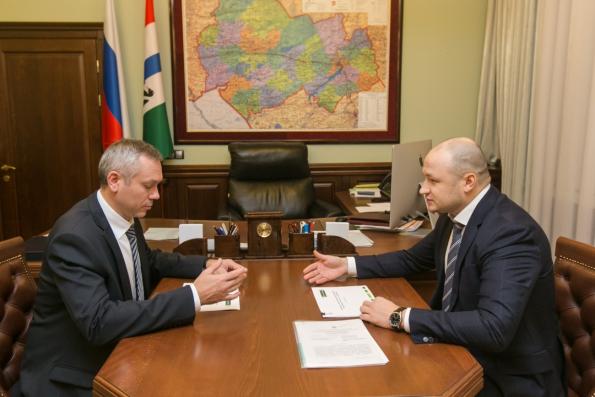 Врио Губернатора Новосибирской области обсудил вопросы кредитования АПК с директором регионального филиала Россельхозбанка