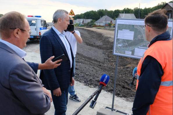 Андрей Травников: Дорога Венгерово-Северное строится с учетом пожеланий жителей