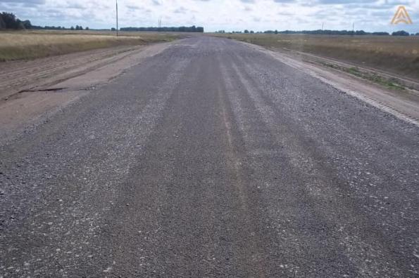 В Карасукском районе завершен ремонт дороги еще на одном школьном маршруте