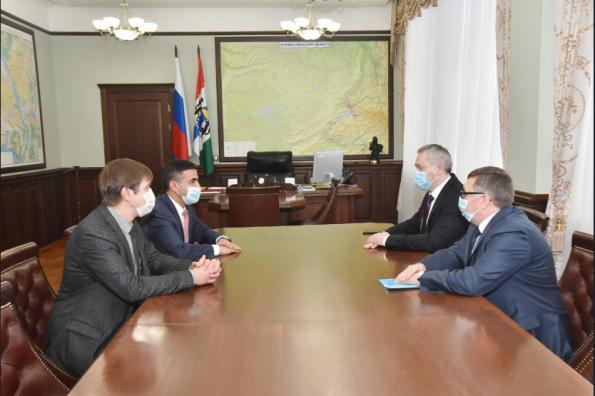 Губернатор провел рабочую встречу с руководителем Сибирского федерального научного центра агробиотехнологий РАН