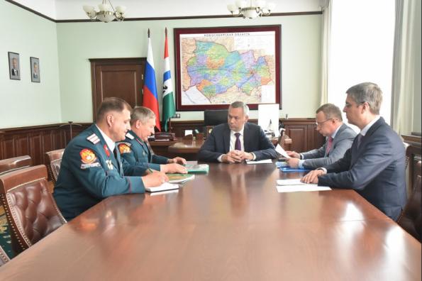 Андрей Травников провел рабочую встречу с представителями Сибирского войскового казачьего общества