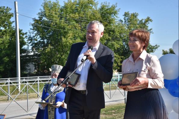 Губернатор Андрей Травников запустил подачу газа в селе Кирза
