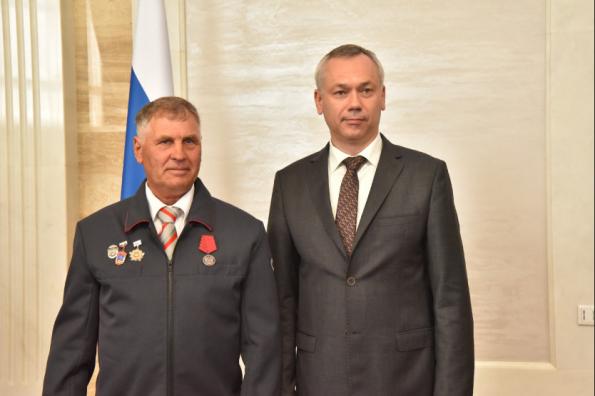 Андрей Травников вручил госнаграды РФ и награды Новосибирской области