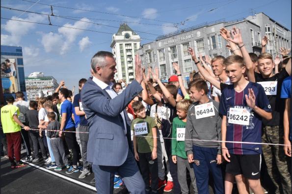 Тысячи новосибирцев вышли на старт Сибирского фестиваля бега