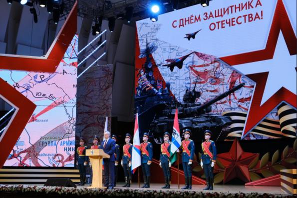 Губернатор Андрей Травников принял участие в чествовании защитников Отечества