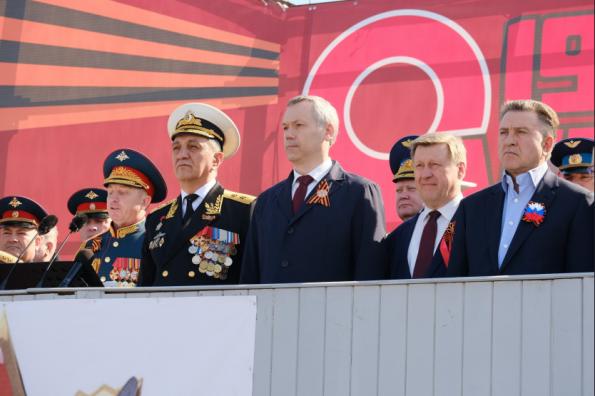 Андрей Травников вместе с новосибирцами принял участие в торжественных мероприятиях, посвящённых Дню Победы