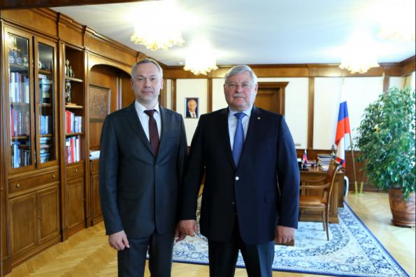 Новосибирский и томский губернаторы обсудили перспективы сотрудничества