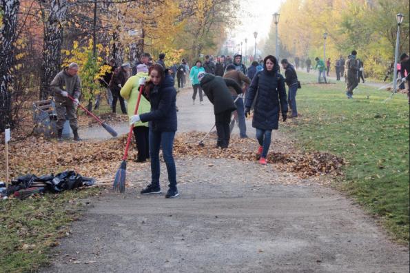В новосибирском Дендропарке провели экологический субботник «Живи, лес» в рамках нацпроекта «Экология»