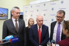 Врио Губернатора Андрей Травников принял участие в запуске нового комплекса очистных сооружений завода «Сибирское молоко»