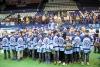 Воспитанники хоккейной школы на чествовании ХК «Сибирь»